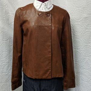 Banana Republic Leather Jacket Size Medium